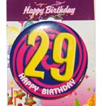 LAGE BIRTHDAY BADGE