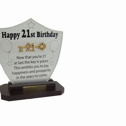 21st Glass Plaque
