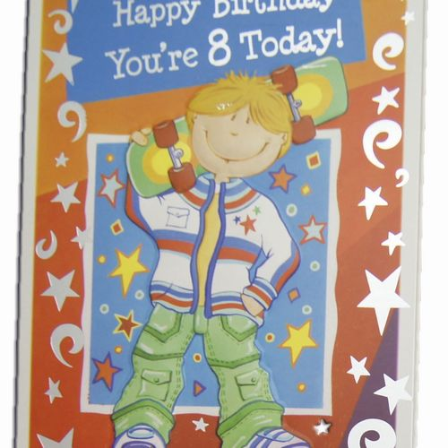 Happy Birthday 8 Years Greeting Cards (5)