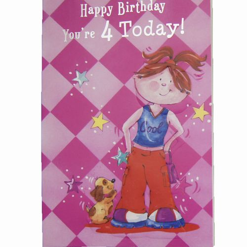 Happy Birthday 4 Years Greeting Cards (5)