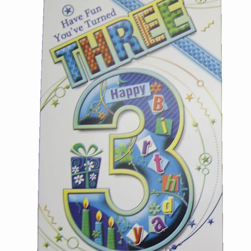 Happy Birthday 3 Years Greeting Cards (5)